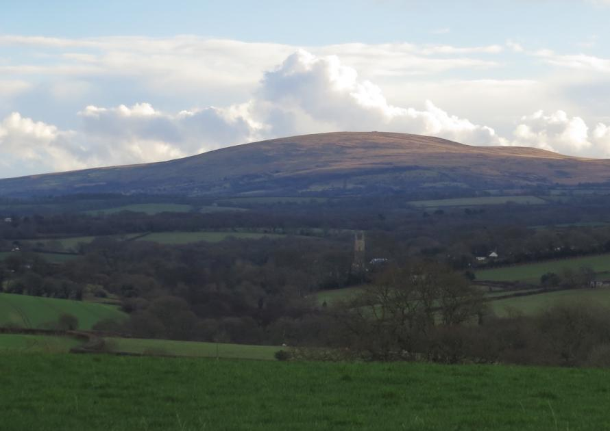 Views of Dartmoor from the Village