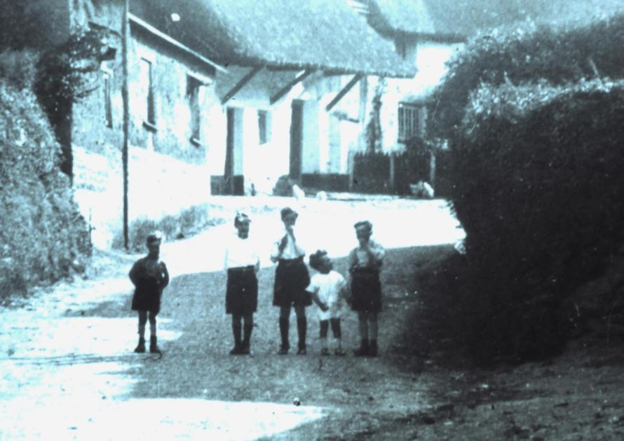 More children in Chapple Lane just down from Higher Town