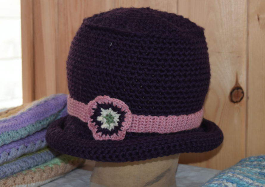 Crocheted hat exhibit 2017