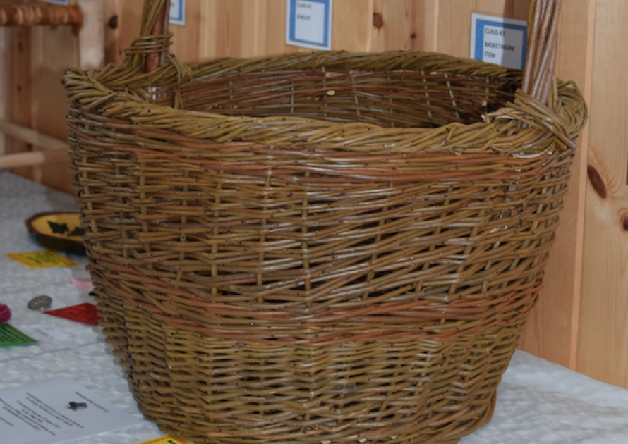 Whicker basket in craft class 2017