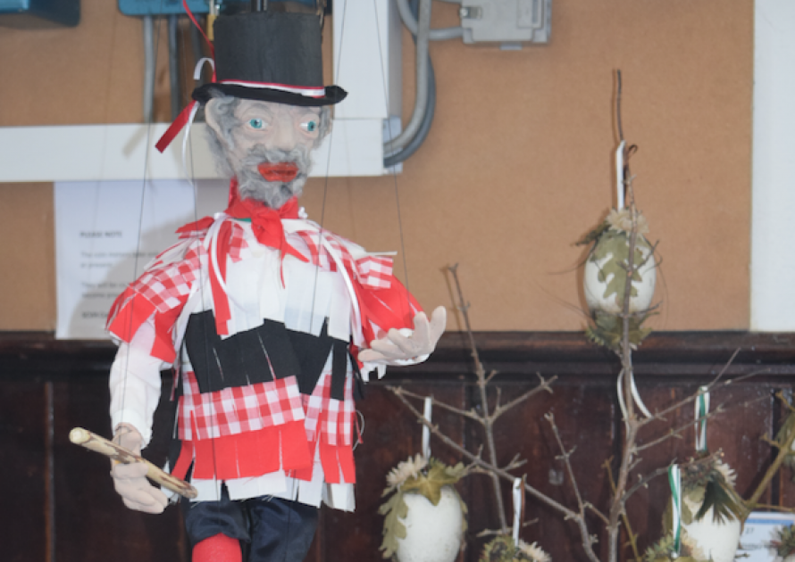 Model of Morris Dancer in Craft class 2017