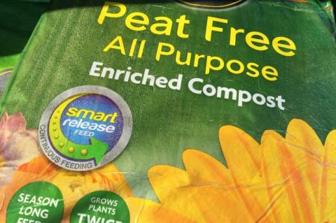 Bag of peat free compost