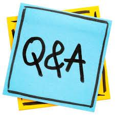 Image of Q&A on a blue square background.