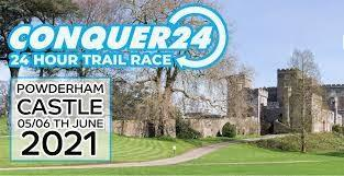 Picture of Powderham Castle advertising the Conquer 24 event